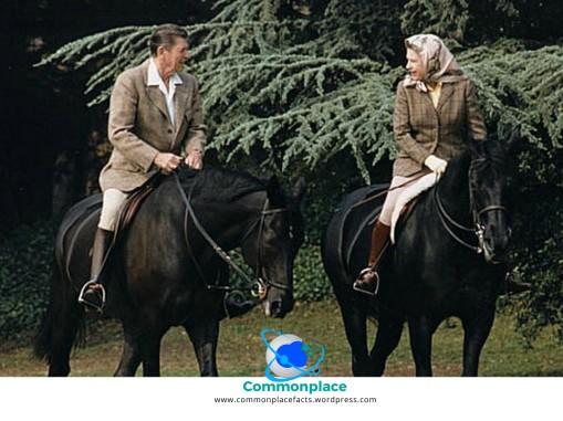 #reagan #ronaldreagan #queen #queenelizabeth #horses #horseback #humor #presidents #royalty
