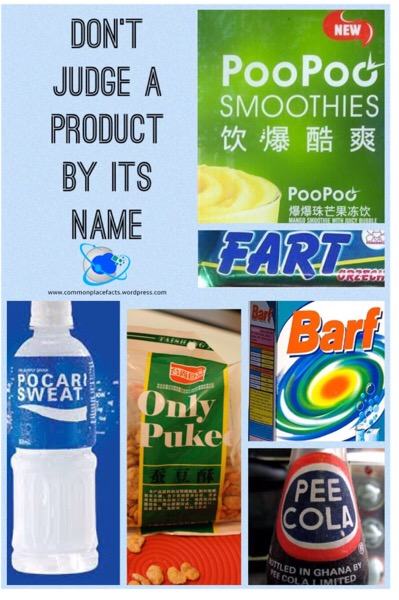 Bad product names, weird product names