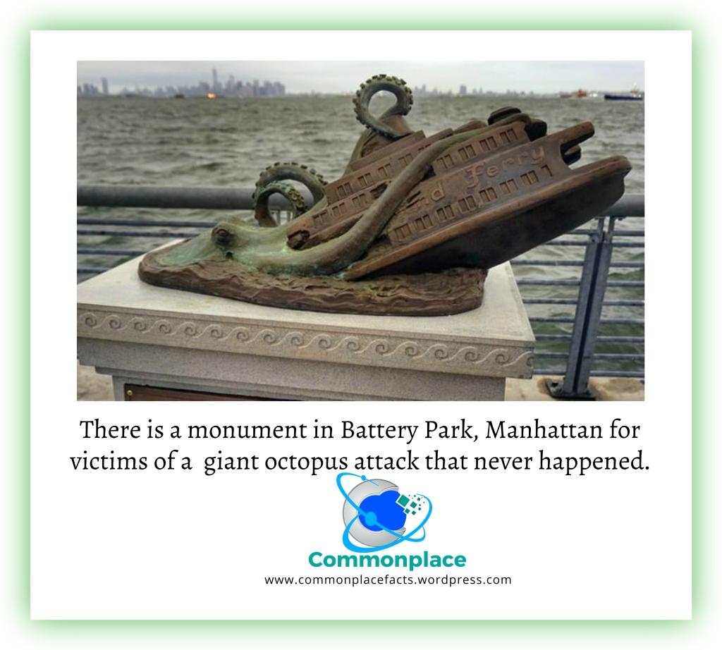 #octopus #monuments #memorials #BatteryPark #Manhattan #CorneliusGKolff #Strange