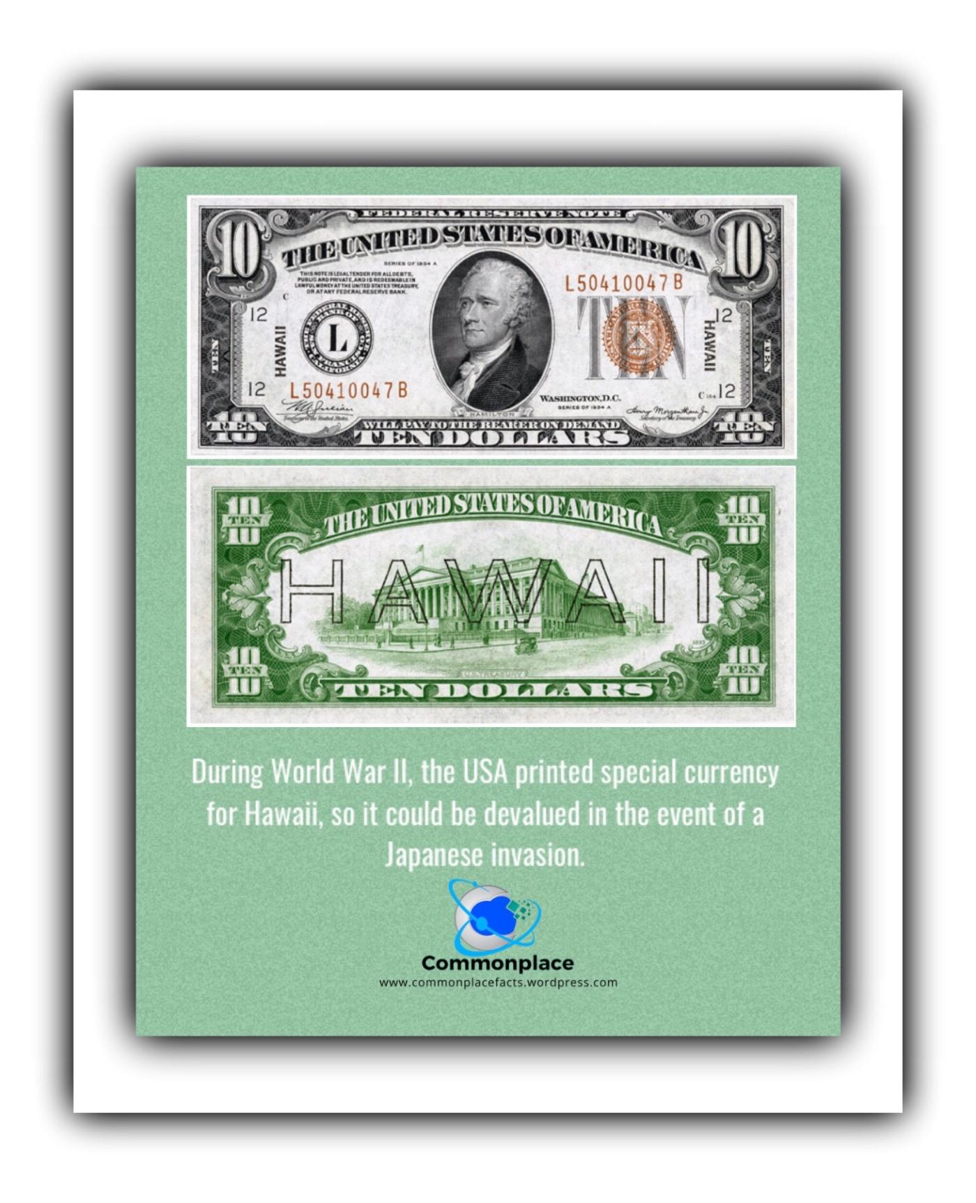 #Hawaii #money #currency #WWII