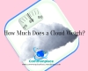 #Clouds #weight #FunFacts