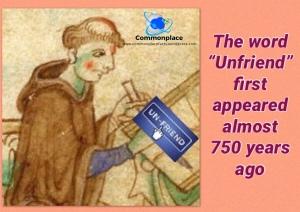#unfriend #Layamon #SocialMedia #Facebook #Poetry #WordOrigins