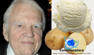 Andy Rooney's funny recipe for potato ice cream