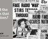 War of the Worlds, Orson Welles, Air Raid, Archibald MacLeish