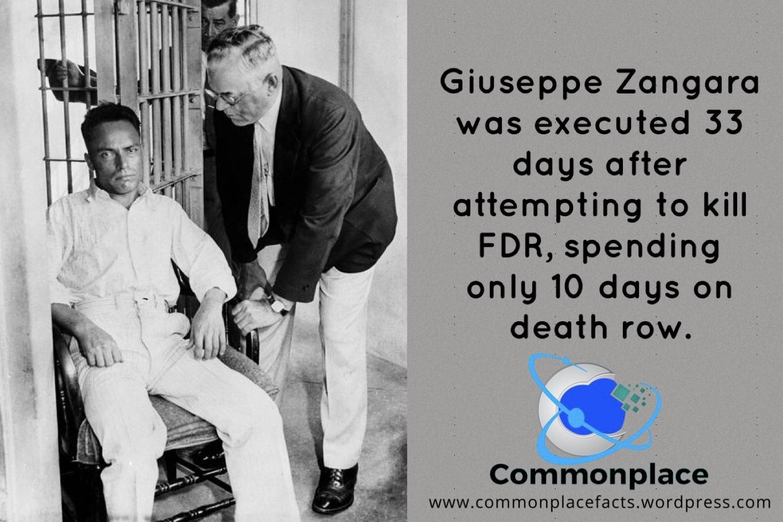 Image result for Giuseppe Zangara, executed