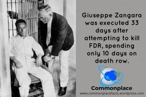 #FDR #CaptialPunishment #DeathPenalty #DeathRow #Roosevelt #Zangara #assassinations