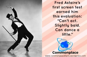 #FredAstaire #dancing #music #muscials #screentests #critics
