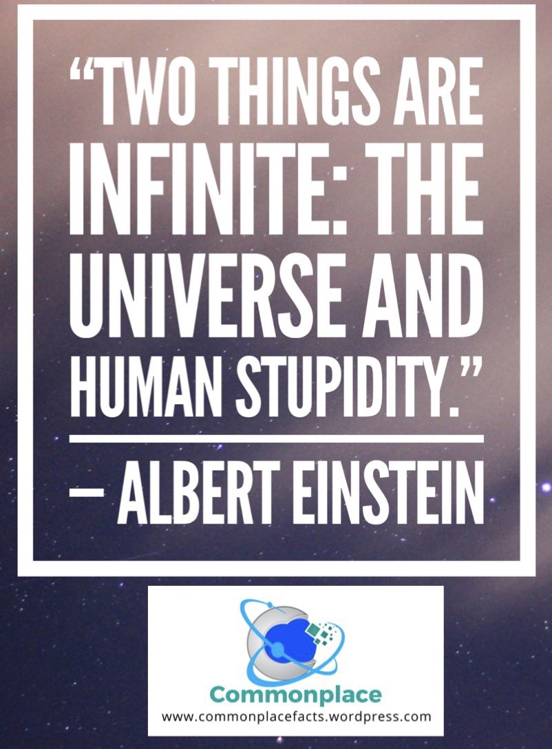 #Einstein #quotes #funnyquotes #stupidity #genius #infinite #universe