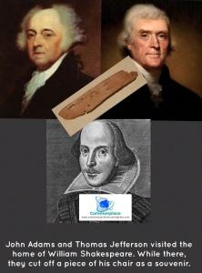 #Shakespeare #JohnAdams #ThomasJefferson #chair #souvenirs