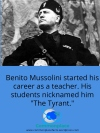 #WWII #Italy #Mussolini #teachers #education #tyrant