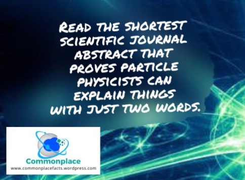 Shortest Scientific Journal Abstract