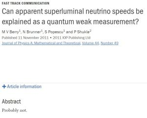 superluminal neutrino speeds