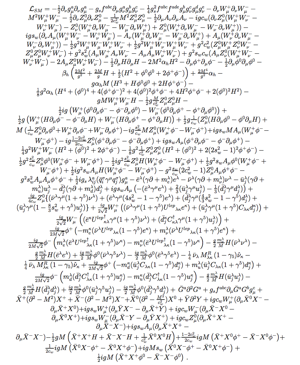 #math #standardmodellagrangian