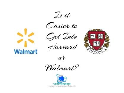 #Harvard #Walmart #Admissions