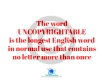#English #LongestWord #uncopyrightable