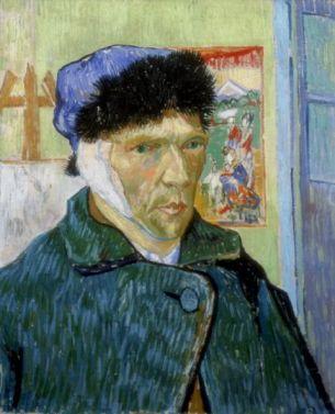 'Self-Portrait with Bandaged Ear', 1889. Artist: Vincent van Gogh