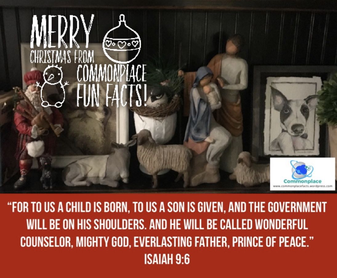 Merry Christmas from Commonplace Fun Facts!