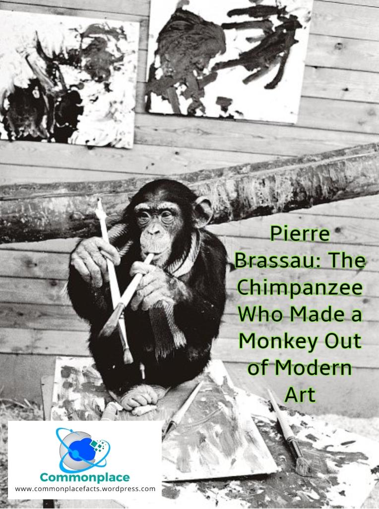 #Art #ModernArt #PierreBrassau #monkeys #chimpanzees #artists