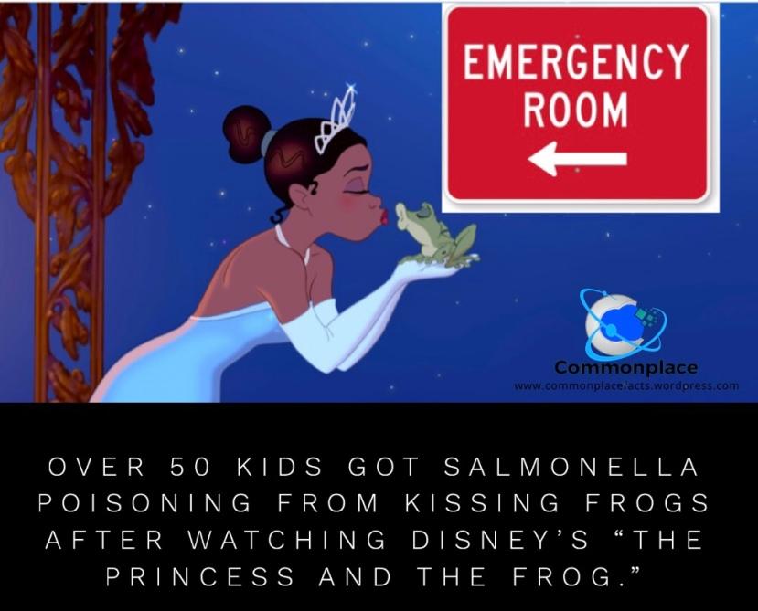 #Disney #Frogs #Salmonella #Kissing #PrincessAndTheFrog