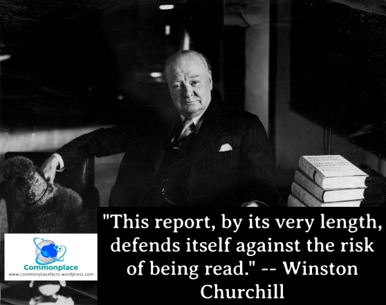 This report, by its very length, defends itself against the risk of being read. -- Winston Churchill