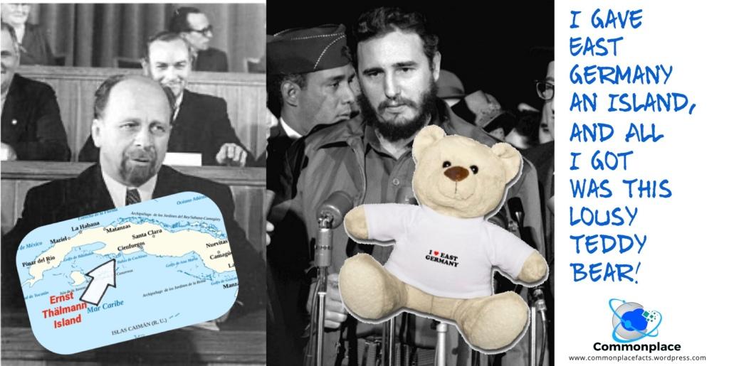 Cuba East Germany Ernst Thalmann Island Teddy Bear