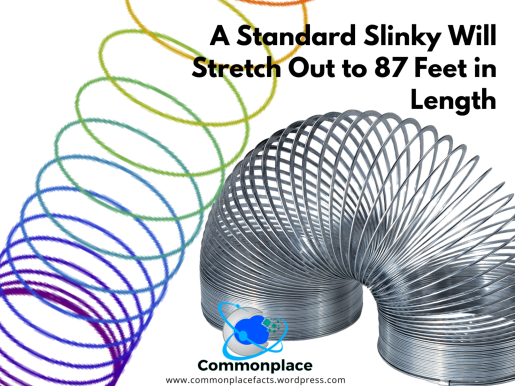 A standard Slinky will stretch out to 87 feet in length