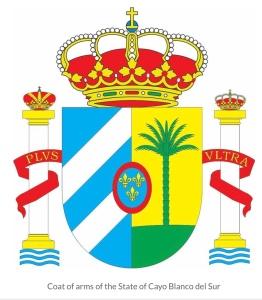 Cayo blanco del sur coat of arms