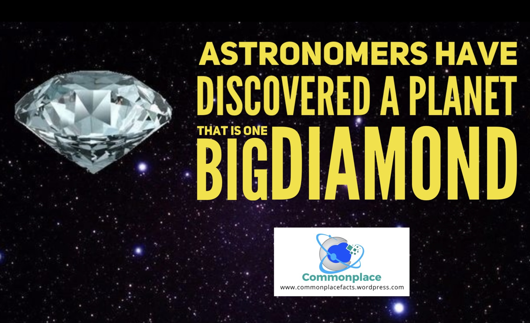 Planet 55 cancri e is one large diamond