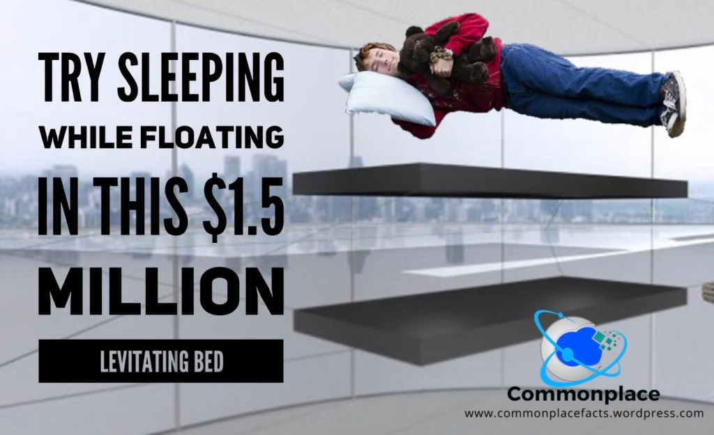 Try sleeping while floating in this $1.5 million magnetic levitating bed