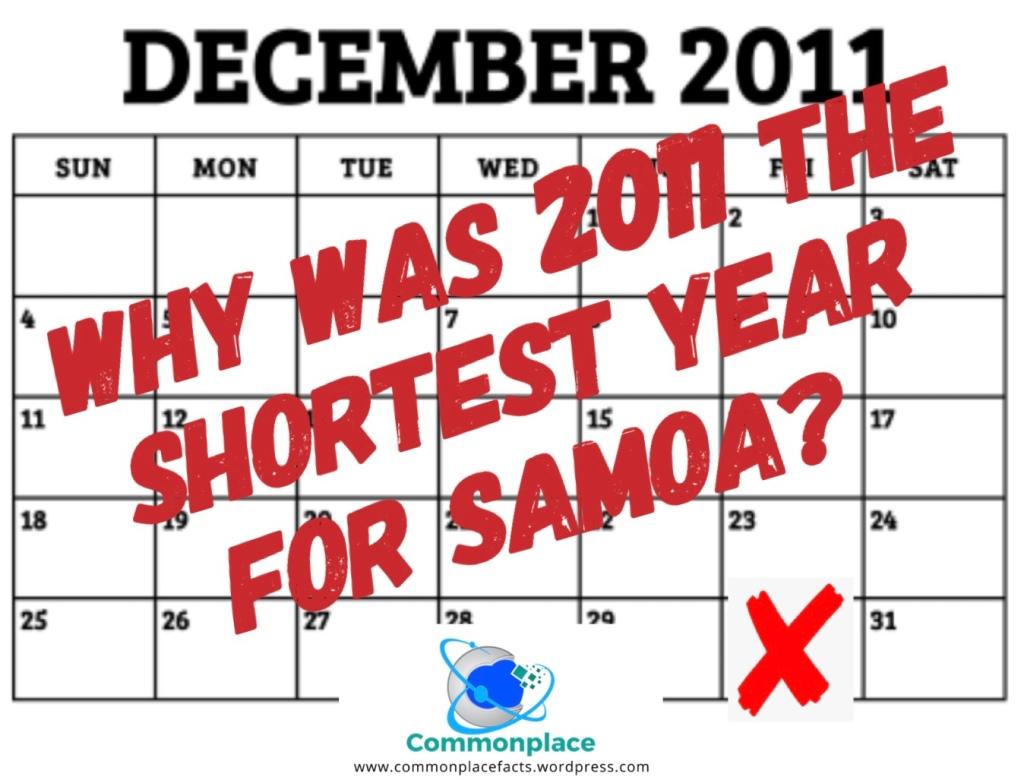 Samoa 2011 skipped December 30