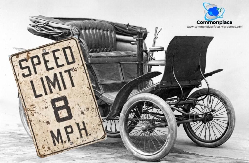 First speeding ticket 1896 8 mph