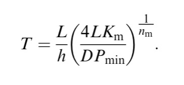 Defecation rate equation