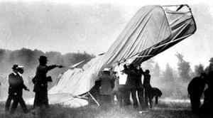 Wreckage of airplane first airplane fatality Thomas E. Selfridge